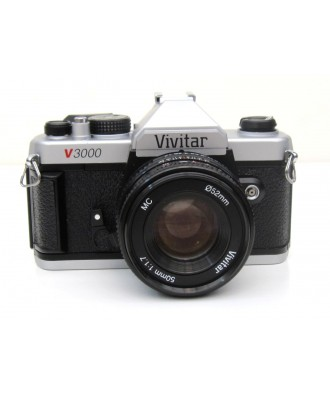 USED: Vivitar V3000 35mm SLR Camera with Vivitar 50mm f1.7 Lens