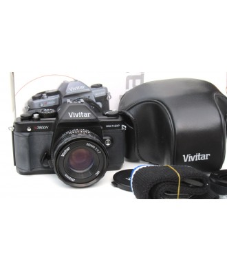 USED: Vivitar V3800n 35mm SLR Camera with Vivtar 50mm Lens