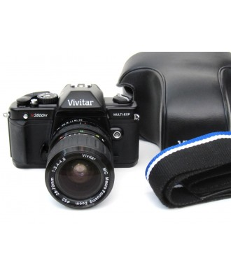 USED: Vivitar V3800n 35mm SLR Camera with Vivitar 28-80mm Lens
