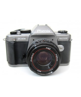 USED: Phenix DC303N 35mm Film SLR Camera with Phenix 50mm f1.7 Lens