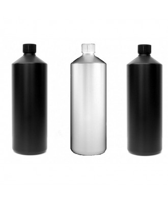 3X Darkroom Chemical Storage Bottles - 1L (2 Black, 1 White)