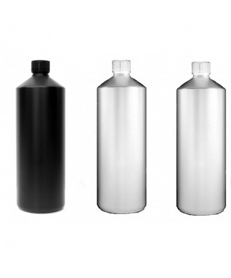 3X Darkroom Chemical Storage Bottles - 1L (1 Black, 2 White)