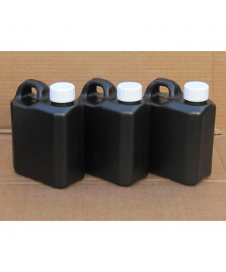 3X Darkroom Jerry Can Chemical Storage Bottles - 1L (All Black)