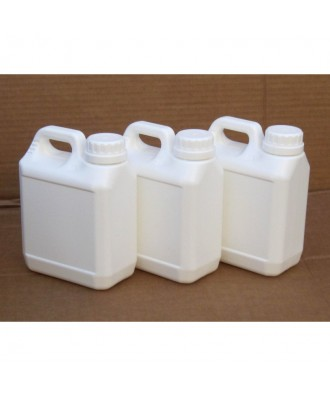 3X DARKROOM JERRY CAN CHEMICAL STORAGE BOTTLES - 1L (ALL white)