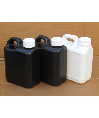 3X DARKROOM JERRY CAN CHEMICAL STORAGE BOTTLES - 1L (2 Black, 1 White)
